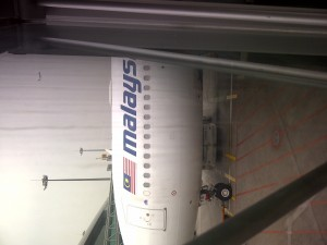 malaysian air flight as I boarded it